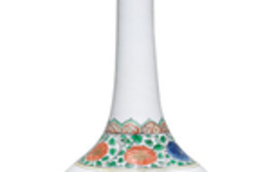 A large famille verte 'Buddhist lions' bottle vase