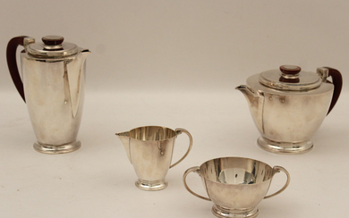 4 PC. ENGLISH STERLING SILVER TEA/COFFEE SERVICE