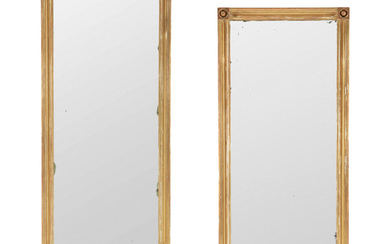 A Pair of Giltwood and Gesso Pier Mirrors