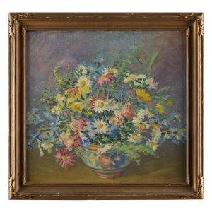 "ELIZABETH FISHER WASHINGTON (american 1871-1953) ""SPRING FLOWERS"" Signed bottom..."