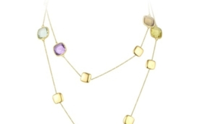 Marco Bicego Multi-Colored Gemstone Long Chain Necklace