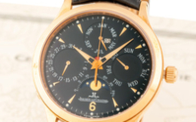 JAEGER-LECOULTRE, REF. 140.240.80S, MASTER CONTROL PERPETUAL, PINK GOLD