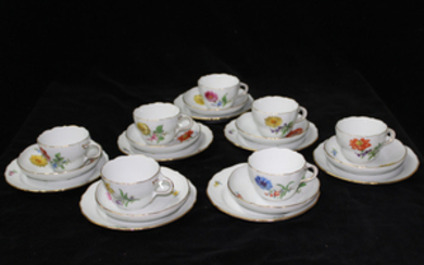 21 PIECE MEISSEN PARTIAL TEA AND CAKE SERVICE