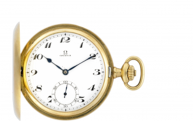 OMEGA Gent's 18K gold savonnette pocket watch Early 20th...