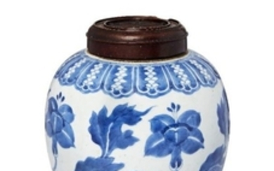 A Chinese porcelain jar, 18th century, painted...