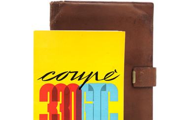 A Ferrari 330 GTC Coupe owner's manual with leather wallet,