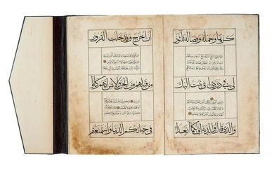 A fine Mamluk Qur'anic Juz', containing text Ha'Mim (26), in Arabic, illuminated manuscript on paper [Mamluk Egypt, probably second half of fifteenth century]