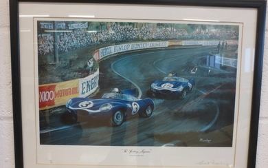 Four limited edition motorsport prints,