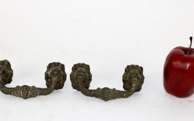 Pair of French bronze drawer pulls