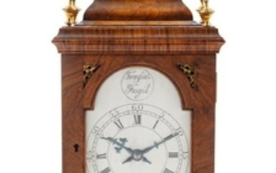 A French Mahogany Cased Mantel Clock FIRST HAL