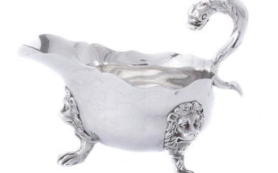 A late Victorian silver oval sauce boat by Carrington & Co.