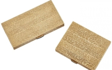 A matching 9ct gold cigarette case and...