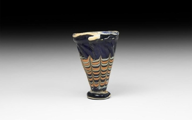 Phoenician Marbled Glass Cup