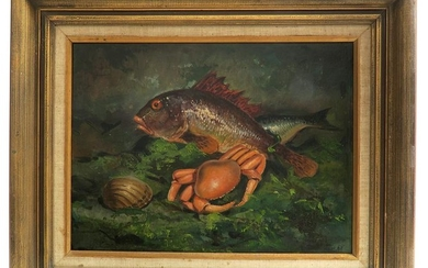 Oil on Canvas Seafood Painting
