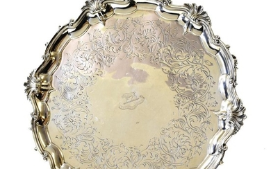 A Victorian Silver Salver, by John Samuel Hunt, London, 1854,...