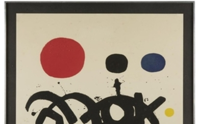 """ADOLPH GOTTLIEB (american, 1903–1974) """"ARABESQUE"""" 1967, pencil signed and..."""