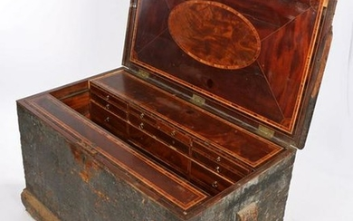Impressive 18th Century cabinet makers chest, the pine