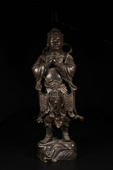 A COPPER GILT OF XUANWU EMPEROR STATUE