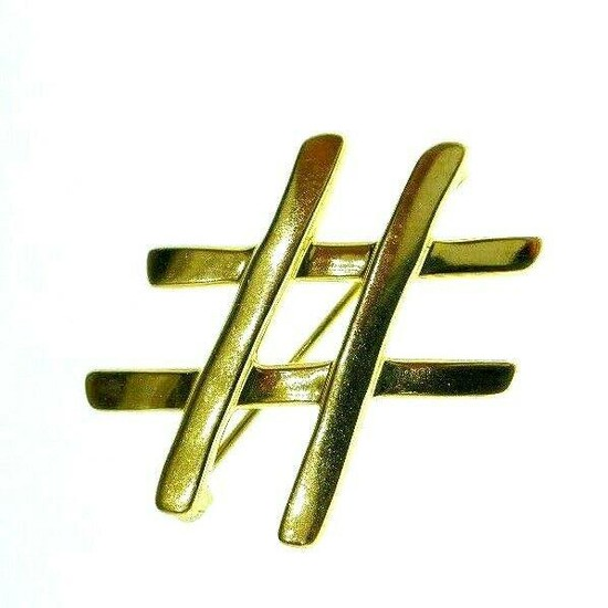 TIFFANY & CO. PALOMA PICASSO 18k Yellow Gold Brooch #