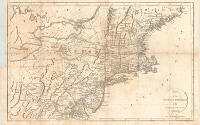 """Map of the Northern Provinces of the United States"", Phillips, Richard (Sir)"