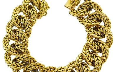 VAN CLEEF & ARPELS Yellow Gold Link Chain BRACELET VCA