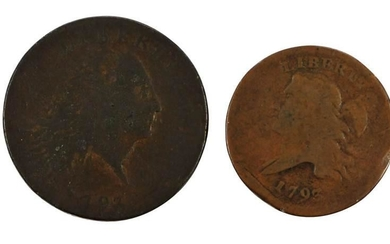 1793 Half Cent and Chain Cent