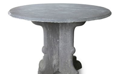 A 19TH CENTURY VALENTIA SLATE GARDEN TABLE, in the…