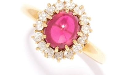 ANTIQUE RUBY AND DIAMOND RING, EARLY 20TH CENTURY in