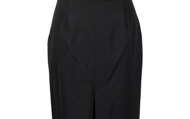 Christian Dior Skirt Black Inverted and Box Pleats fits