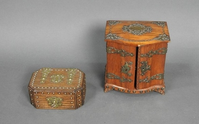 2 ENGLISH VICTORIAN JEWELRY BOXES