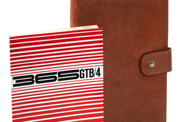 A Ferrari 365 GTB/4 Daytona leather wallet and contents, 1969-70,