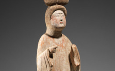A pottery figure of a court lady