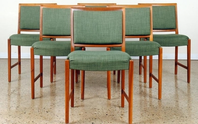 SET 6 FRENCH MID CENTURY MODERN DINING CHAIRS