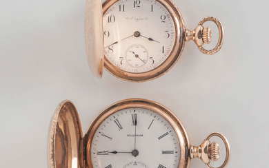 Two 14kt Gold Hunter-case Pocket Watches