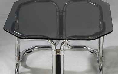 Spanish coffee table in tubular structure, 1970s