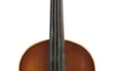 Child's German Violin - Labeled MADE IN MITTENWALD FOR/AND COMPLETELY ADJUSTED BY/REMBERT WURLITZER/NEW YORK 1952, length of back 342 mm.