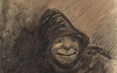 GUSTAVE DORÉ (Strasbourg 1832 1883 Paris) Study of a Hooded Man.