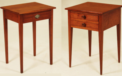 2 EARLY AMERICAN SOUTHERN CHERRY OCCASSIONAL TABLES