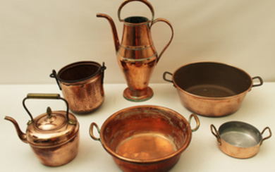 6 PIECE MISC. LOT OF COPPER