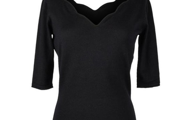 Christian Dior Top Black Cashmere Pullover Sacllop