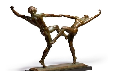 HARRIET WHITNEY FRISHMUTH | THE DANCERS (PAS DE DEUX, TARANTELLA)