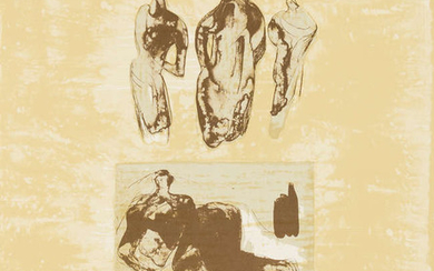 Henry Moore (1898-1986) Ideas From a Sketchbook (Cramer 324)