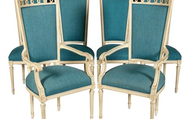 Hollywood Regency Dining Chairs - Six