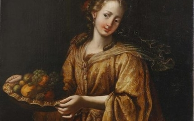 Italian School, oil, portrait of a noblewoman