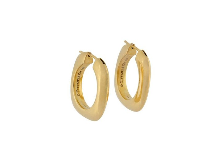 A pair of gold hoop earrings, by Tiffany & Co., 2004