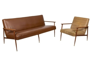 Baumritter - Sculpted Arm Sofa & Chair