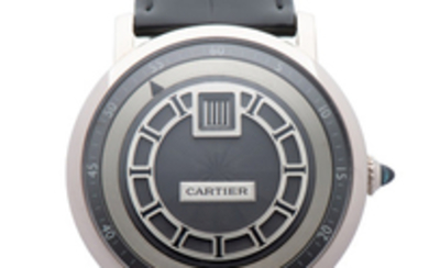 CARTIER, REF. 2953J, ROTONDE JUMPING HOURS, WHITE GOLD