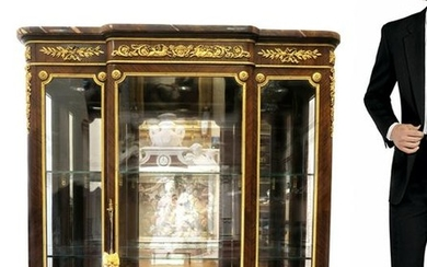 French Bronze Mounted F. Linke Vitrine Cabinet. Signed