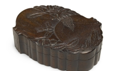 A HONGMU 'POMEGRANATE' BOX AND COVER QING DYNASTY, 18TH/19TH CENTURY
