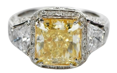 4.30ct. Fancy Yellow Diamond Ring